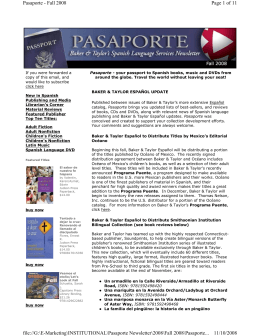 Page 1 of 11 Pasaporte - Fall 2008 11/10/2008 file