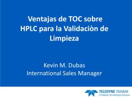 Ventajas de TOC sobre HPLC para la Validaciòn de Limpieza