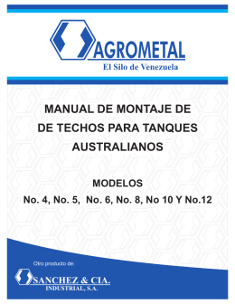Manual Techos para Tanques Australianos Nw