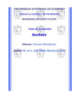Sockets - M. en C. Jose Mario Martinez Castro