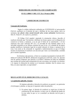 1 DERECHOS DE USUFRUCTO, USO Y