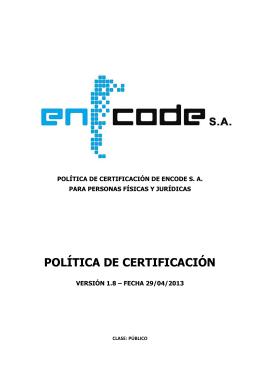 Politica Certificacion ENCODESIN v1m8