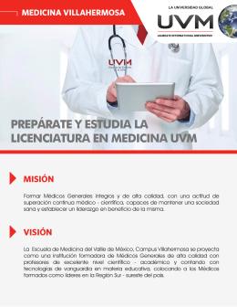 prepárate y estudia la licenciatura en medicina uvm misión