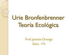 Urie Bronfenbrenner Teoría Ecológica