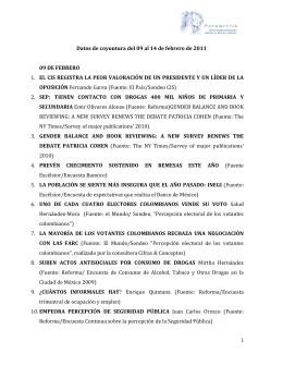 Datos de coyuntura del 09 al 14 de febrero de 2011 09