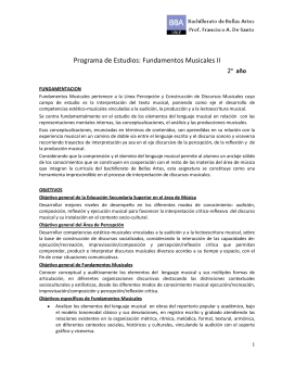 Programa de Estudios: Fundamentos Musicales II
