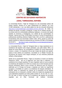 CENTRO DE ESTUDIOS HISPÁNICOS (CEH), TARRAGONA