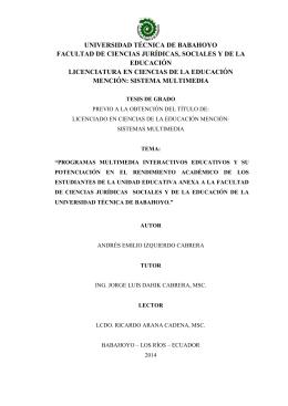 universidad técnica de babahoyo facultad de ciencias jurídicas