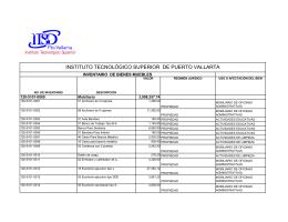 Bienes Muebles - Instituto Tecnológico Superior de Puerto Vallarta