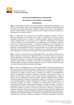 resolución de alerta naranja volcan Tungurahua 14 de julio de 2013