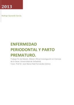 2013 ENFERMEDAD PERIODONTAL Y PARTO