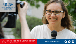 Brochure Licenciatura en Ciencias de la Comunicación