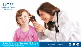 Brochure Licenciatura en Fonoaudiología