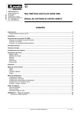 multimetros digitales serie dmk manual del software