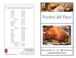 Puntos del Pavo - University of Wyoming
