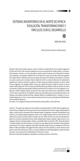 sistemas migratorios en el norte de áfrica: evolución
