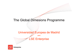 The Global Dimesions Programme - Alumni UEM