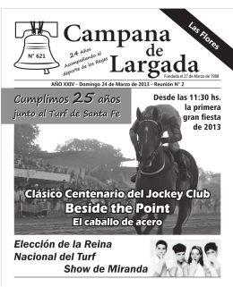 Revista Campana de Largada - El Disco Periódico Digital