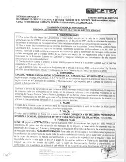 1. CONSIDERACIONES 2. CONTRATISTA 4. PLAZO El