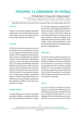 Trisomía 13 - Asociación Española de Pediatría