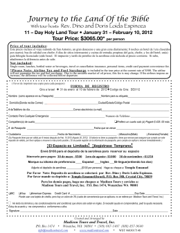 Registration Form - Spanish Language
