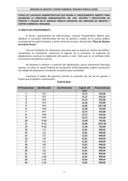 PLIEGO DEFINITIVO - Ayuntamiento de Huércal