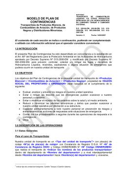 MODELO DE PLAN DE CONTINGENCIAS