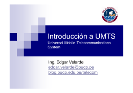 Introduccion a UMTS - departamento.pucp.edu.pe