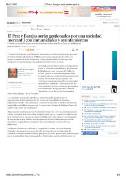 El Prat y Barajas serán gestionados por una sociedad mercantil con