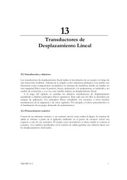 Transductores de Desplazamiento Lineal