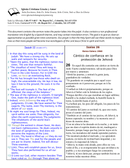 Cántico de confianza en la protección de Jehová