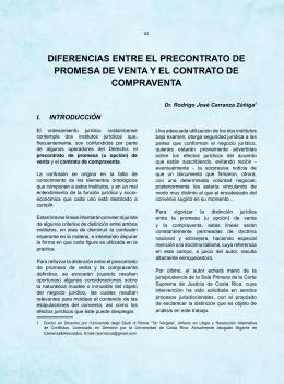 diferencias entre el precontrato de promesa de venta y el contrato