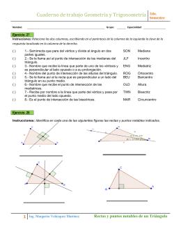 Cuaderno de trabajo Geometría y Trigonometría