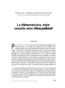 AnalesIIE77, UNAM, 2000. La china mexicana, mejor conocida