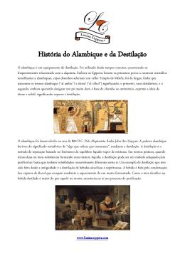 História do Alambique e da Destilação