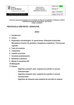 PROTOCOLO URETRITIS / CERVICITIS.