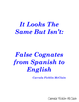 False Cognates from Spanish to English