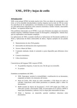 XML, DTD y hojas de estilo