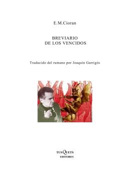 E.M.Cioran BREVIARIO DE LOS VENCIDOS