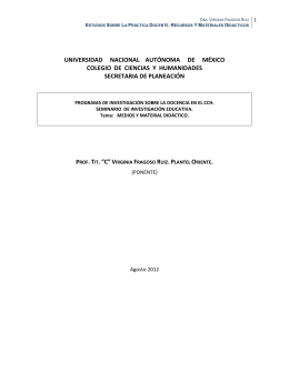 Estudios Sobre La Práctica Docente. Recursos Y Materiales