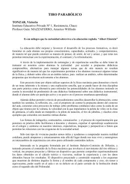 TIRO PARABÓLICO - Instituto Balseiro