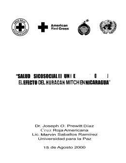salud psigosocial en un desastre complejo: el efecto del huracan