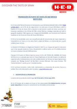 PROMOCIÓN EN PUNTO DE VENTA EN HEB MÉXICO MAYO 2013