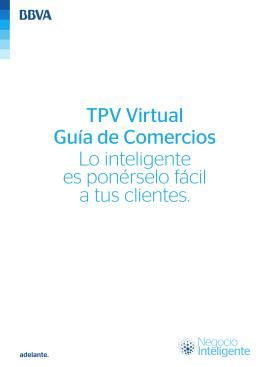TPV Virtual de BBVA. Guía de Comercios