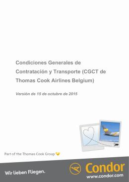 Condiciones Generales de Contratación y Transporte