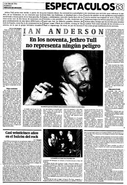 él mismo me decía en el 92 que Jethro Tull ya era un grupo inofensivo