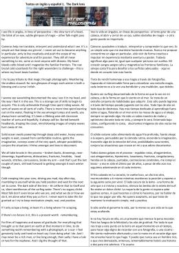 Textos en inglés y español 1. The Dark lens