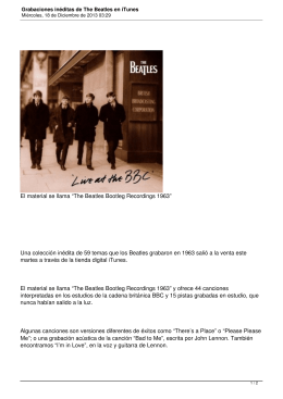 Grabaciones inéditas de The Beatles en iTunes