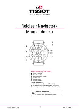 Relojes «Navigator» Manual de uso