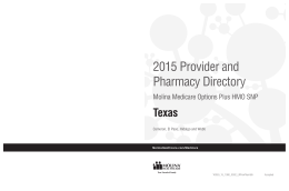2015 Texas Provider and Pharmacy Directory